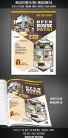 Real Estate - Open House Flyer / Magazine AD by graphicstock