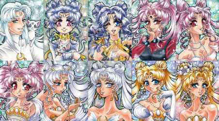 ACEOs - Sailor Moon Characters (Royal Family) by Tomo-Chi