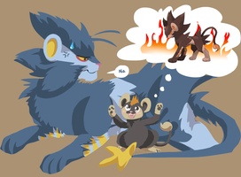 luxray and litleo