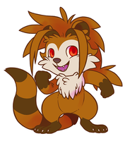 Bday - Chibi raccoon by Fluna
