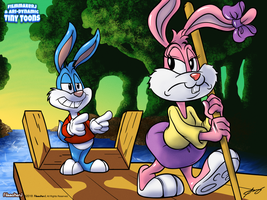 Buster and Babs - A Tiny Toons Collab by FilmmakerJ