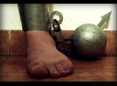 Man, Ball and Chain by relativegod