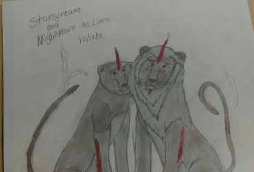 Starscream and Nightmare as Lions  by Megatron401