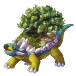 Type Collab: Ground - Shiny Torterra by Krisantyne