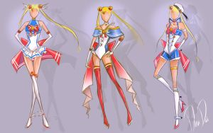 New Sailor Moon Outfit designs - Sketch (Redesign) by daadia