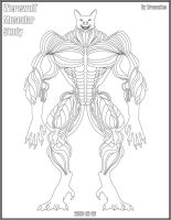 Werewolf muscular study by dracontes
