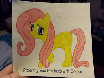 Fluttershy - Handpainted by Nevel7