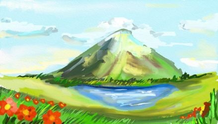 Lonely Mountain by hellsheep
