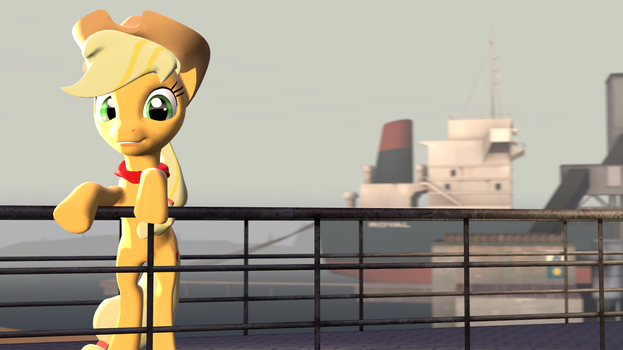 applejack @ harbour by lucario0206