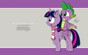 Channel Sketch: Twilight Sparkle and Spike by Fuzon-S