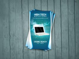 H-Tech Solutions Business Card by DesignersJunior