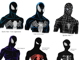 Different Symbiote designs by Soyelmejor999