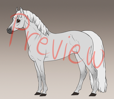 Horse lineart with base (PSD) by Wouv