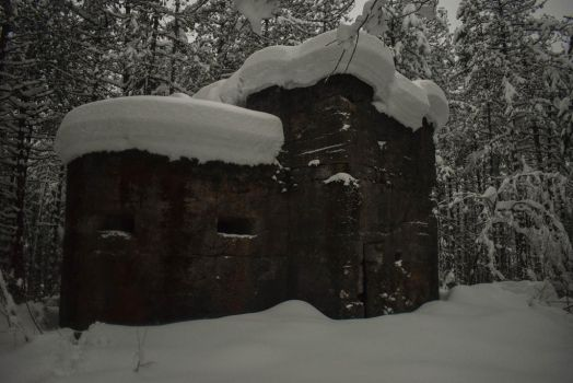 Old Bunker In The Snow by matcheslv