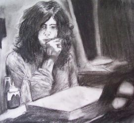Jimmy Page in Charcoal by wideturn