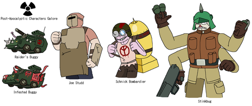 OC Profile: Post-Apocalyptic Characters Mk.3 by aeea7835