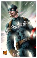 Captain America (Winter Soldier Outfit) colors by hanzozuken