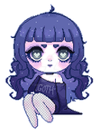 [F2U] Little Goth Girl PageDoll by Wuhvly
