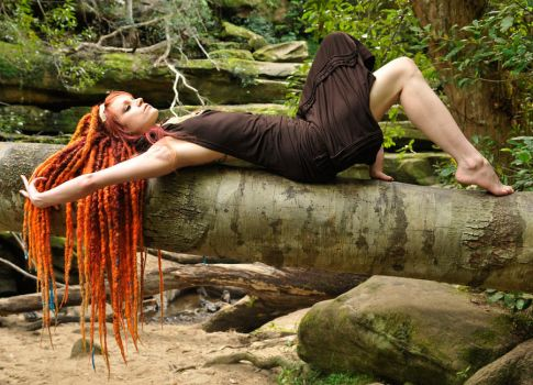 Angel - dreads on tree 1 by wildplaces