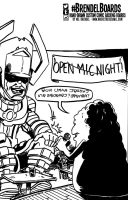 Brendel Board #7 - Marvel Open Mic Night commish by wheretheresawil