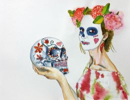 Skull girl by ColeBarrett