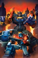 Transformers Combiner Wars #1 cover colors by khaamar
