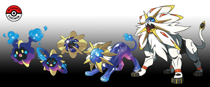 789 - 791 Solgaleo Line by InProgressPokemon