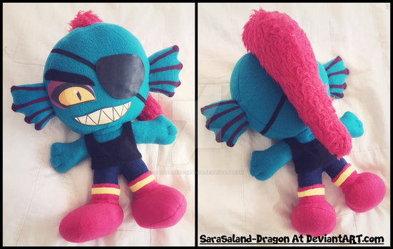 Commission: Small Undyne Plushie by Sarasaland-Dragon