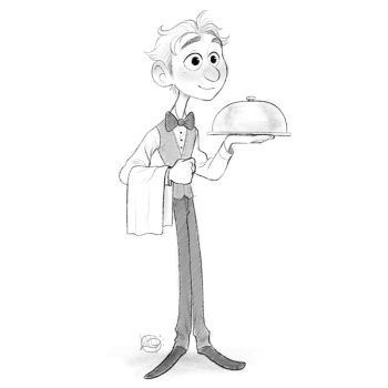 Waiter Sketch by LuigiL