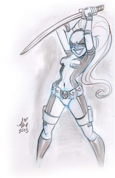 Daily Quick Sketches: Lady Deadpool week2 by mainasha