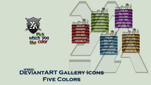 DeviantART Gallery Icons Five Colors by Th3EmOo