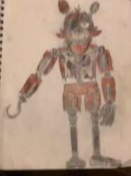 Withered Original Foxy the Pirate by Fazscare87