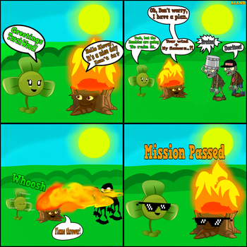 Plants vs Zombies Comic: Blover And Torchwood. by ALAND420