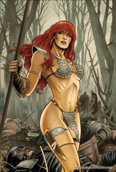 Red Sonja 60 Cover Colors by FabianoNeves