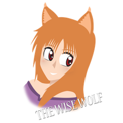 Holo, the Wise Wolf Portrait by WolfTron