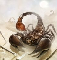 Giant Scorpion by laclillac