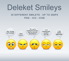 Deleket Smileys Icons-PNG's by KenSaunders