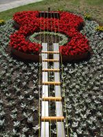 Guitar from flowers by SilverFrog666