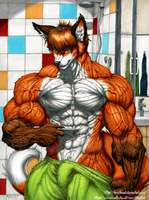 Andre's after-shower body by Demi-Beast