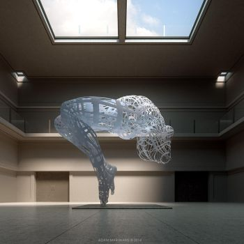 The big sculpture in a nonexistent museum by deignis
