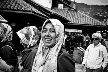 the smile of Sarajevo BW by mull