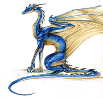 Blue Dragon by catdragongrl