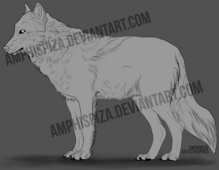 Side View Lineart by Amphispiza