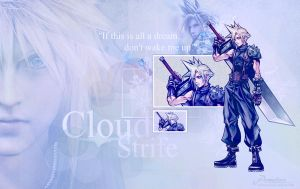 Cloud Strife Wallpaper by demeters