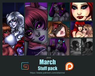 March 2018 patreon stuff pack - Gumroad by elwinne