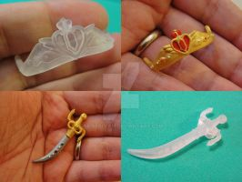 Sailor Moon doll accessories by silverbeam