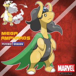 MEGA AMPHAROS MARVEL FORM by Meg4mente