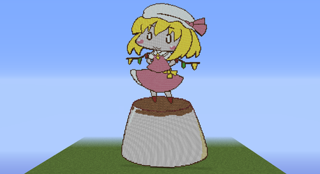 Flandre on a flan - Minecraft by CawinEMD
