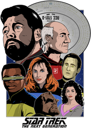 Star Trek TNG Poster by DaveMilburn