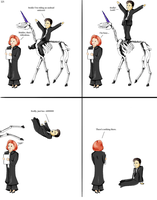 Scully, Mulder and a unicorn by RoboInvisaBunny